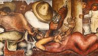 Aurora Reyes, Atentado a las maestras rurales, mural, 1936.