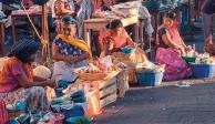 Foto ilustrativa de vendedoras en el mercado de Juchitán, Oaxaca