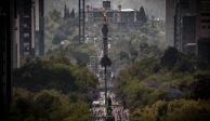 Se asoma la primavera en la CDMX. EL ÁNGEL de la Independencia y el Castillo de Chapultepec convergen en la primera postal de la estación.