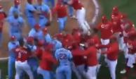 VIDEO: ¡Hay tiro! Así fue la brutal primera pelea campal de 2021 en MLB