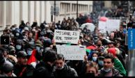 Paris: manifestantes pro palestinos