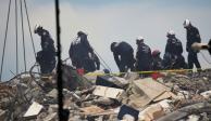 Rescatistas en Miami, colapso de edificio