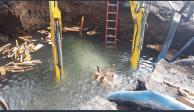 Fuga de agua originan socavón en Canal de Miramontes