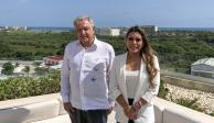 AMLO se reúne con Evelyn Salgado