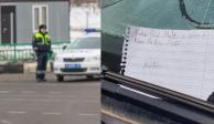 Niño multa a auto mal estacionado con más de 47 mil pesos