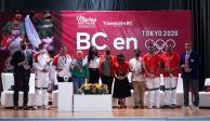La Gobernadora Electa de Baja California, Marina del Pilar Ávila Olmeda, entregó reconocimientos a los atletas bajacalifornianos que representaron a México