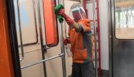 Limpieza en el Metro de la Ciudad de México