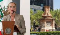 Beatriz Gutiérrez Müller celebra la decisión de reemplazar la escultura de Cristóbal Colón en Paseo de la Reforma por estatua de una mujer indígena.