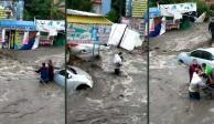 rescatan a bebé-inundaciones-ecatepec