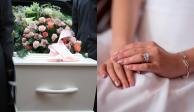Decidió convertirse en su esposa, sin importarle que fuera en el funeral de él