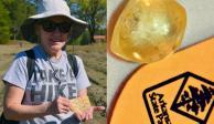 La mujer se encontró un diamante amarillo tras una hora de caminata