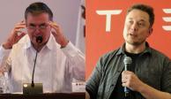 Marcelo Ebrard y Elon Musk