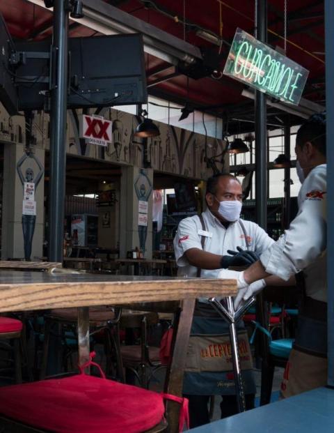 El restaurantero, un sector castigado por la pandemia