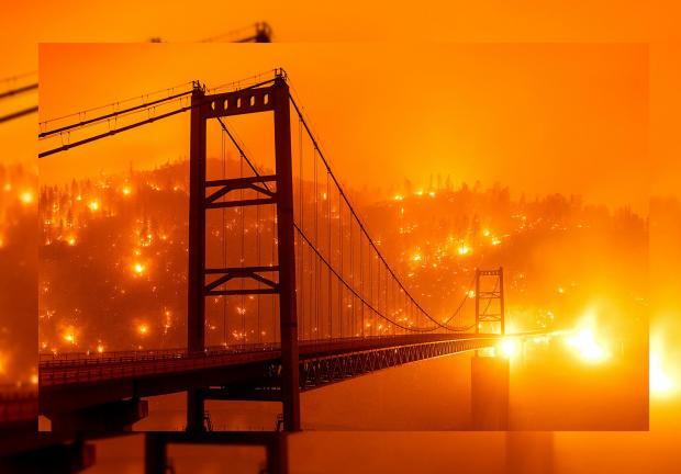"En California, paisajes ""apocalípticos"" por incendios"