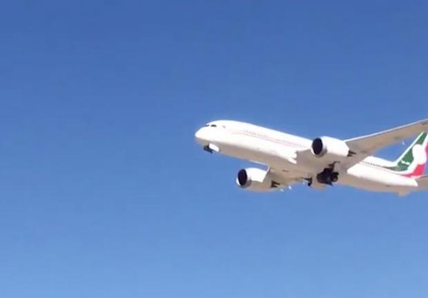 Así fue el despegue del avión presidencial.