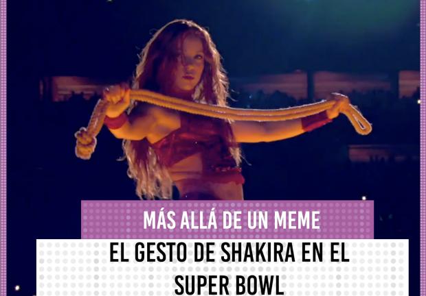 Más allá de un meme; El gesto de Shakira en el Super Bowl