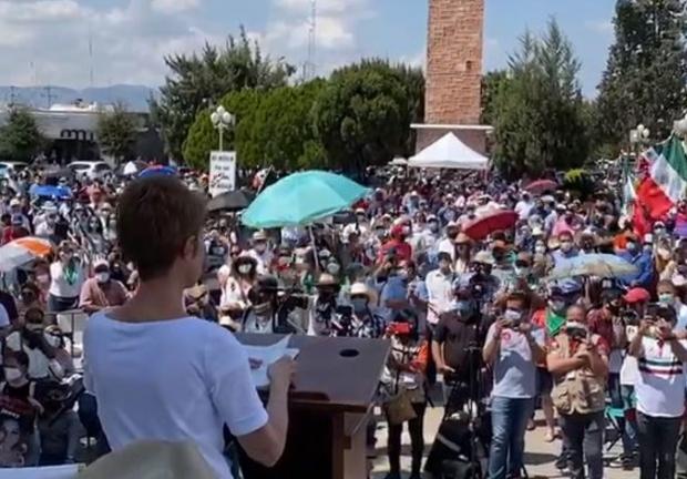 Protesta en Delicias, Chihuahua