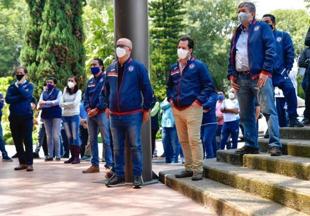 Trabajadores de La Noria festejaron el 30 Aniversario de la inauguración de las instalaciones sede de la Máquina Celeste de Cruz Azul.