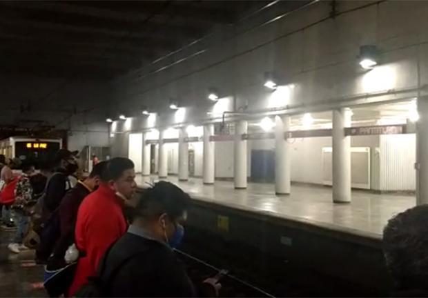 Este lunes, la estación registró poca afluencia de usuarios.