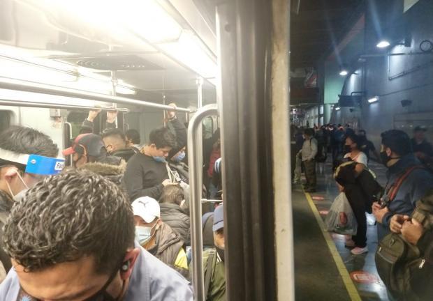 Metro Pantitlán en medio del COVID-19