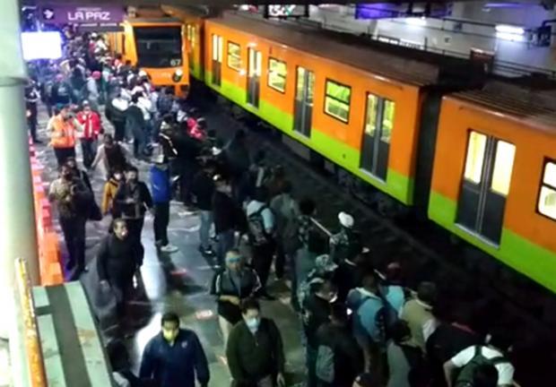 La estación registró una afluencia menor a días previos.