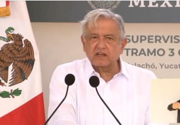 El discurso de AMLO en su gira por Yucatán.