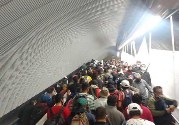 Así se ve el Metro con los retrasos en las Líneas 1 y 3-metro-cdmx