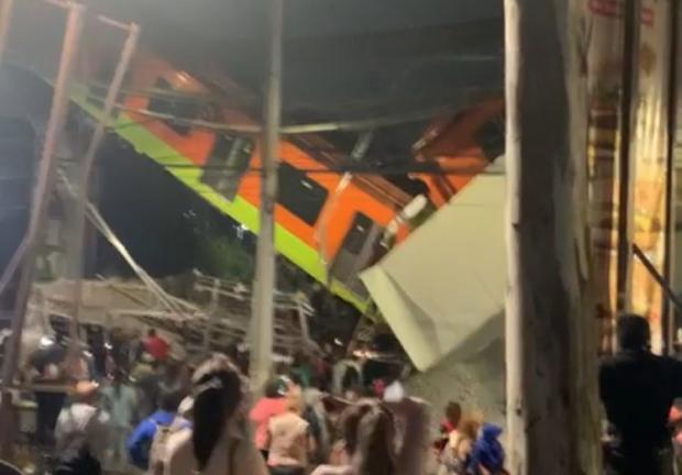 Cae puente con vagones del Metro en estaciones Tezonco y Olivos en Línea 12