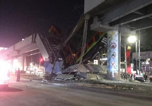 Se desploma Metro al caer puente en estaciones Tezonco y Olivos de la Línea 12