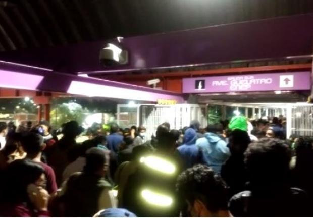 El Sistema de Transporte Colectivo Metro informó que el servicio de la estación Peñón Viejo a La Paz, en la Línea A.