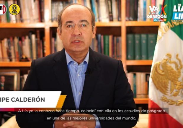 Felipe Calderón llama al voto por Lía Limón en Álvaro Obregón.