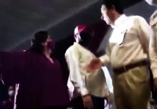 Evento de morena en Matamoros termina en agresiones y descalificaciones.