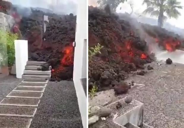 Erupción de volcán enciende la alerta en Canarias, España