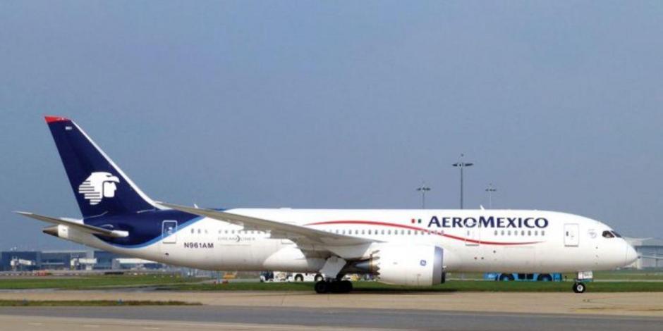 Para aminorar impacto de Covid-19, Aeroméxico prevé recorte a 40% de vuelos internacionales