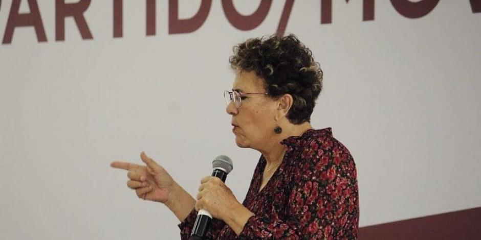Bertha Luján, dispuesta a que encuesta defina a presidente de Morena