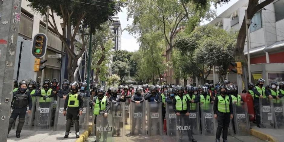 Poca convocatoria en manifestación