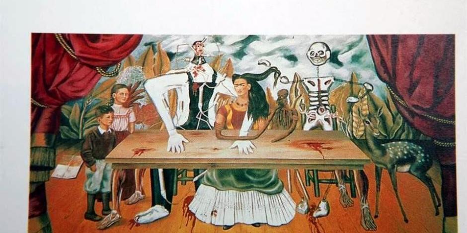 Foto de La Mesa Herida, de la pintora mexicana Frida Kahlo