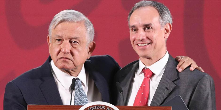 Andrés Manuel López Obrador y Hugo Lopéz Gatell.