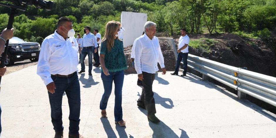 Inauguran AMLO y gobernadora Pavlovich Presa Bicentenario Los ...