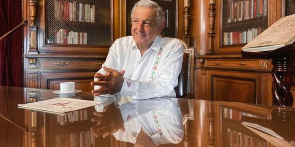 Andrés Manuel López Obrador en Palacio Nacional