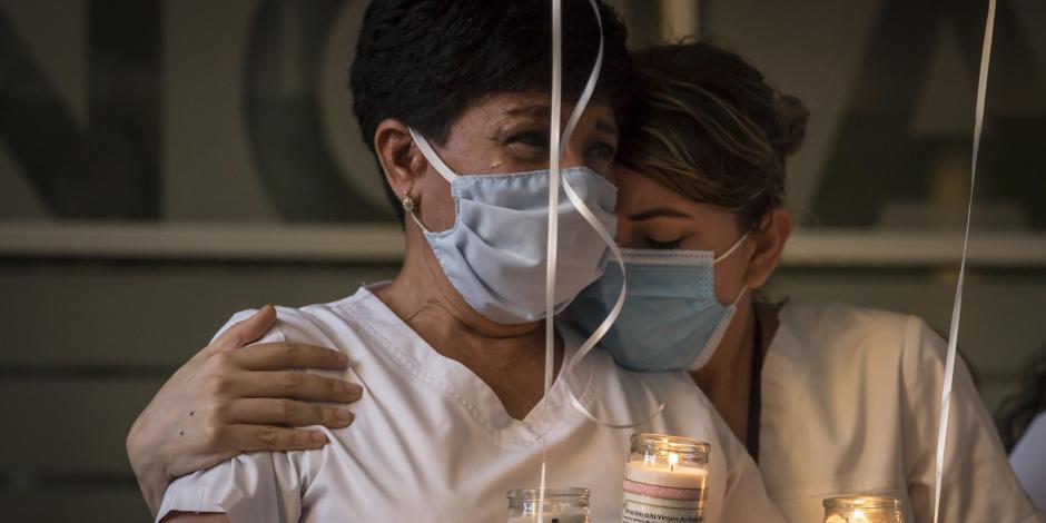 Homenaje a enfermera