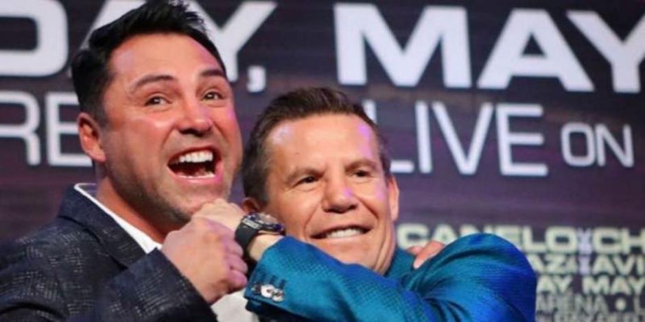 Julio César Chávez y Óscar de la Hoya