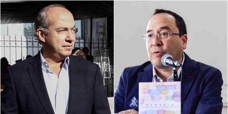 A la izquierda, Felipe Calderón; a la derecha, Ciro Murayama