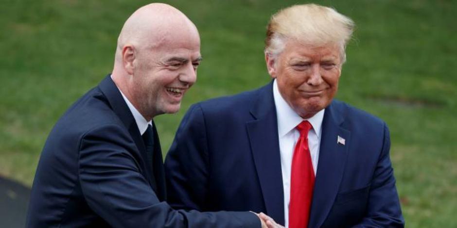 Infantino y Trump