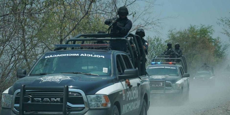 Policías recorrido Michoacán