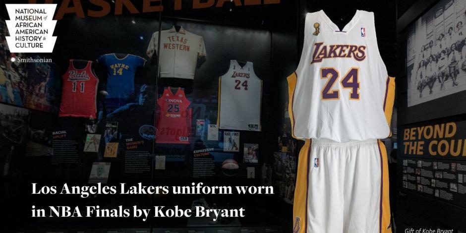 NBA: Camiseta que Kobe Bryant usó en 2008 se exhibirá en Museo Smithsonian