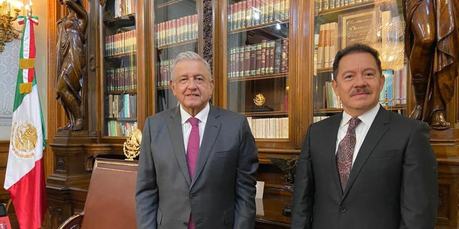 AMLO sostiene primera reunión con nuevo Coordinador de Morena en San Lázaro