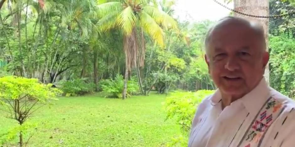 AMLO inaugura museo de la Reina Roja en Palenque