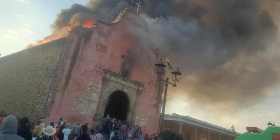 nurio iglesia incendio