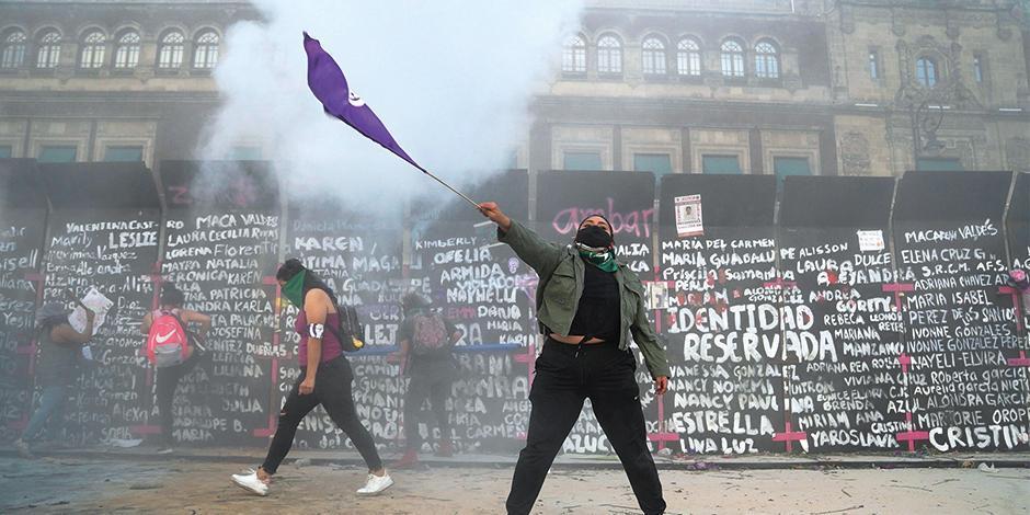 Foto de la marcha de el 8 de marzo, Día Internacional de la Mujer,